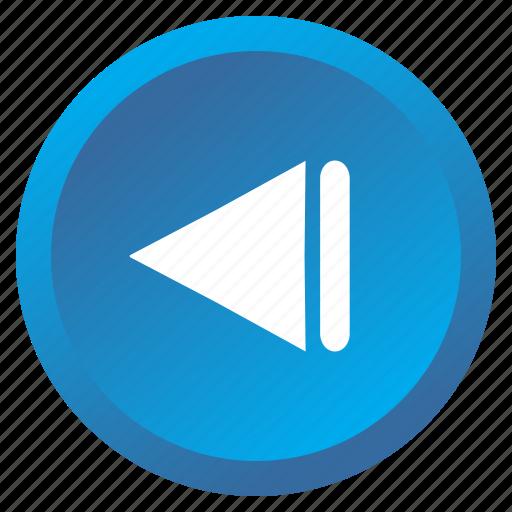 arrow, backward, control, media, multimedia, previous, track icon