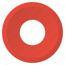 audio, multimedia, player, record, recorder, stop, video icon