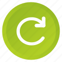 control, multimedia, recycle, refresh, reload, repeat, replay icon