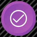 check, control, multimedia, okay, select, tick, verify icon