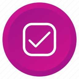 control, multimedia, okay, select, square, tick, verify icon