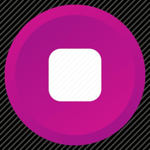 audio, control, media, multimedia, player, record, stop icon