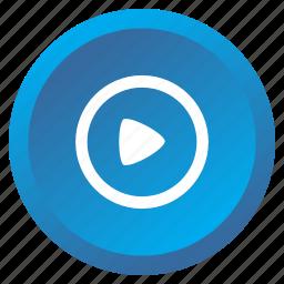 control, film, media, movie, multimedia, play, video icon