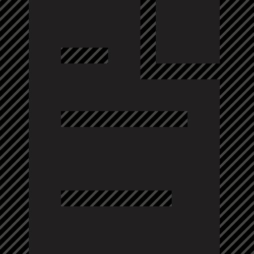 file, letter, media icon