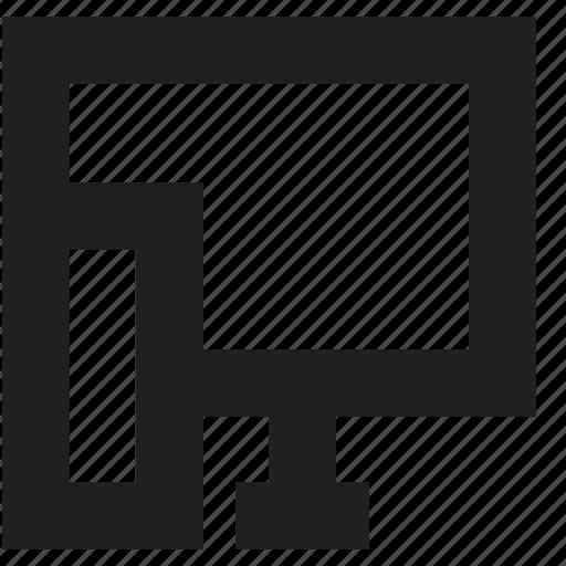 computer, media, screen icon