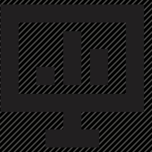 computer, data, media, screen icon