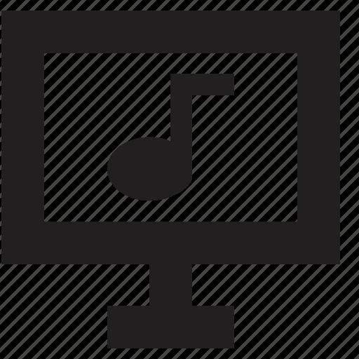 computer, media, music, screen icon