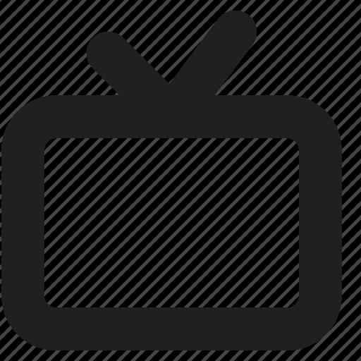 media, screen, tv icon