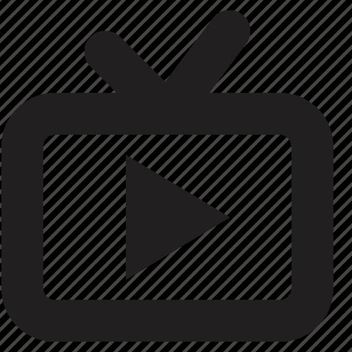 media, play, screen, tv icon