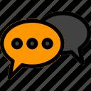 bubble, chat, communication, message, speech