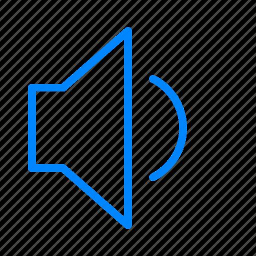 loud, medium, sound, volume icon