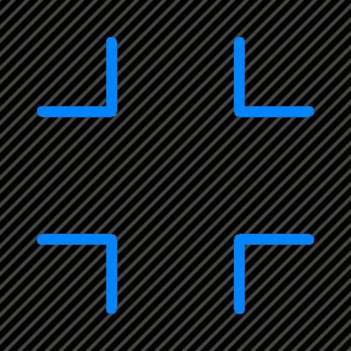 minimize, reduce icon