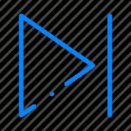 forward, next, play icon