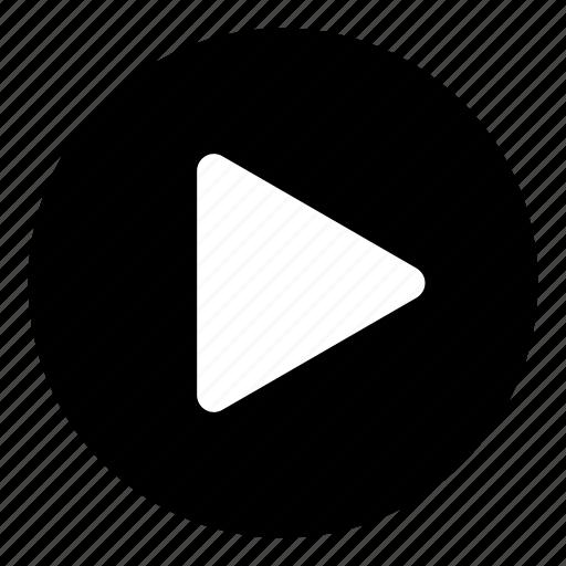 begin, media, media button, media controls, music controls, play, play button icon