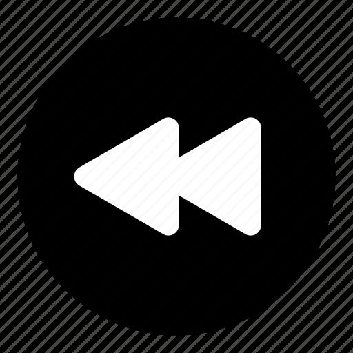 back, fast backward, rewind, rewind button icon