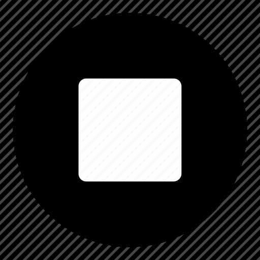 media button, stop, stop button icon