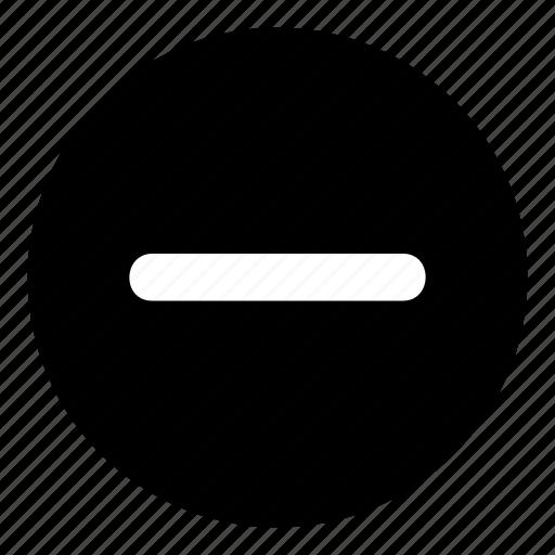 -, - button, media button, subtract, subtract button, volume down icon