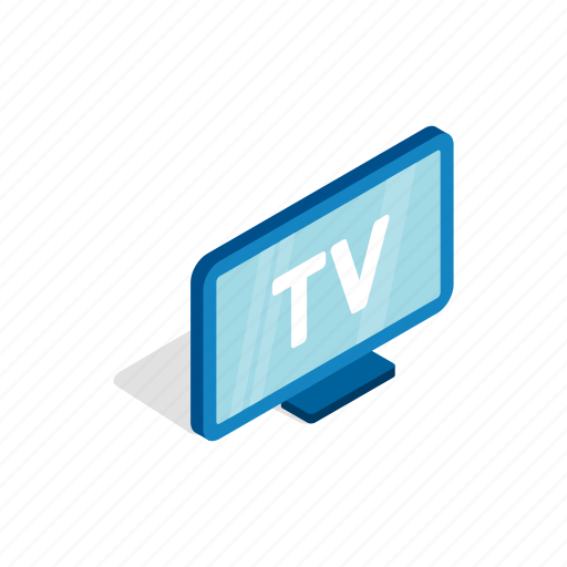 display, isometric, monitor, screen, technology, television icon