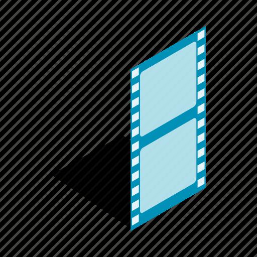 border, film, frame, isometric, picture, slide, strip icon