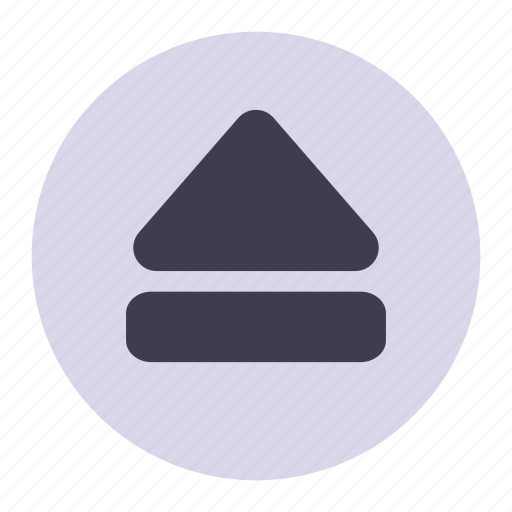eject, up icon