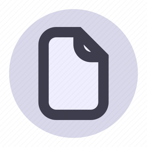 document, file, list, new, page, playlist, sheet icon
