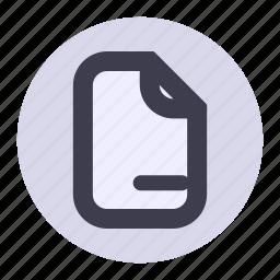 delete, document, file, list, page, playlist icon