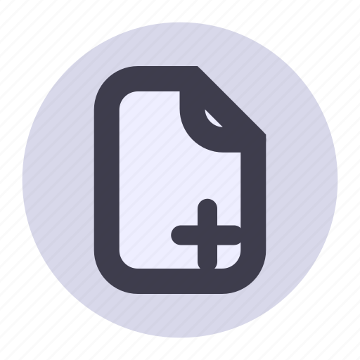 add, document, file, list, new, paper, playlist icon