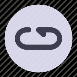 again, arrow, repeat icon