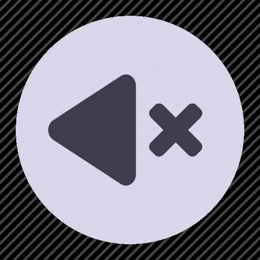 control, media, music, no, sound, volume icon