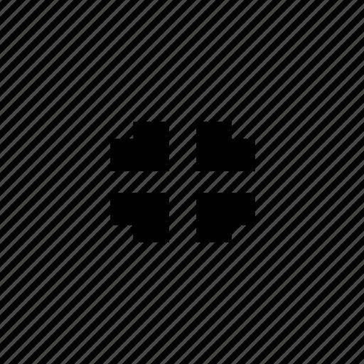 arrows, in, zoom icon