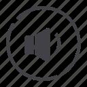 media, player, volume icon