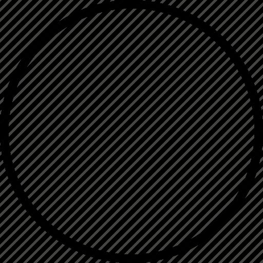 circle, oval, rec icon