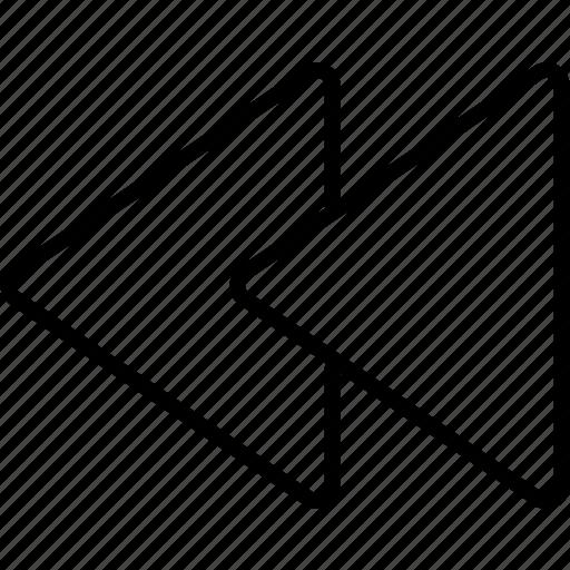 backward, multimedia, previous, rewind icon
