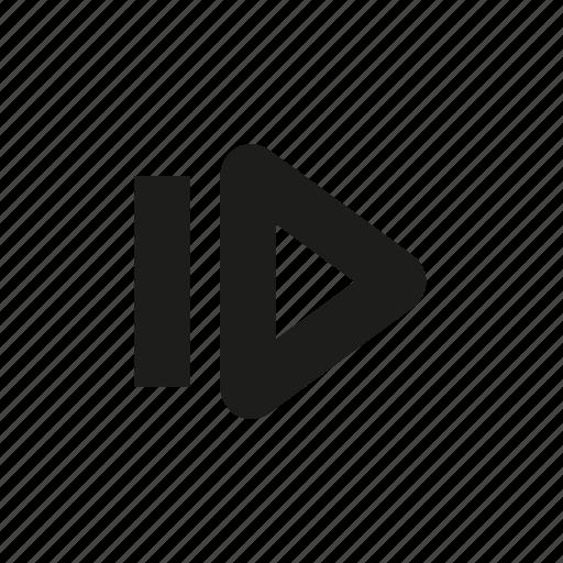forward, forward one frame, skip icon