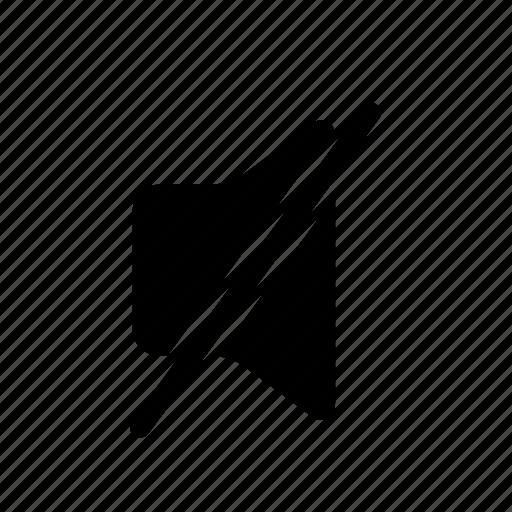 grey, media, mute, mute volume, outline, turn off volume icon