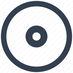 circle, disc, dvd, media, mp3, music, play, player, sound, wav icon