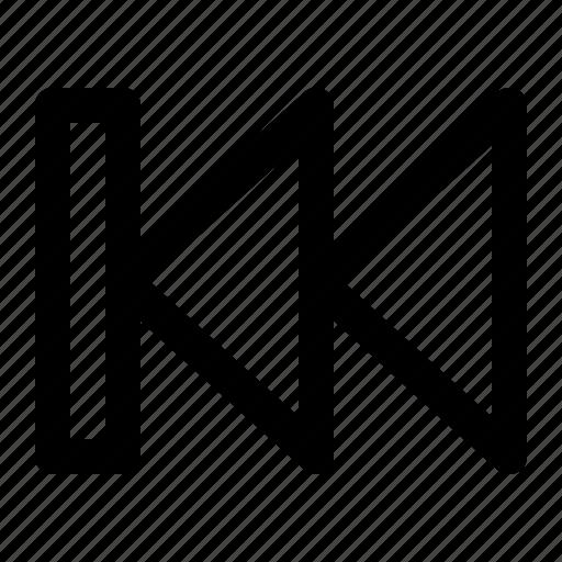 arrow, back, next, outline, play, prev, previous icon