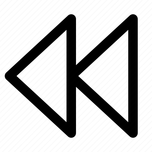 back, next, outline, play, prev, previous icon