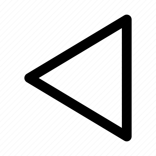 arrow, back, music, outline, play, video icon