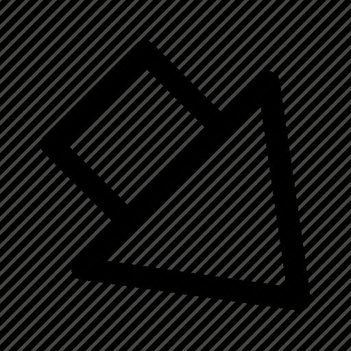 arrow, corner, down, outline, play icon