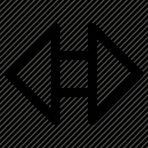 arrow, back, full, next, play, screen, video icon