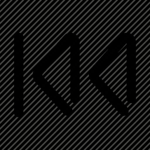 backward, media, multimedia, player, skip icon