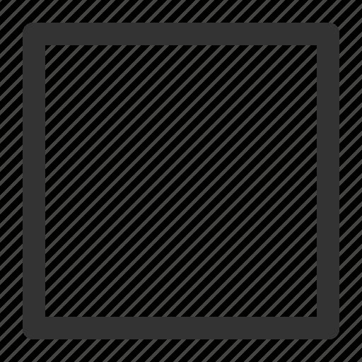 audio, media, multimedia, player, square, stop, video icon