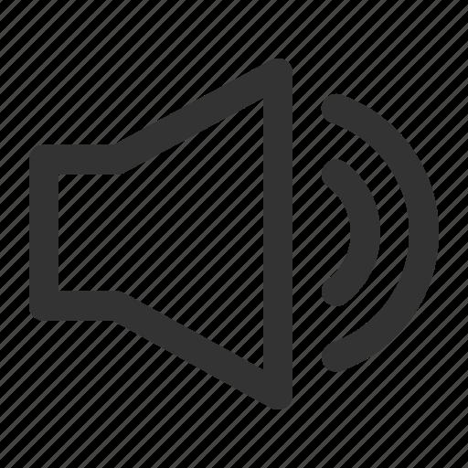 audio, media, multimedia, player, video, volume, volume up icon