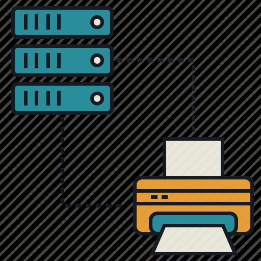 database, media, print, share icon
