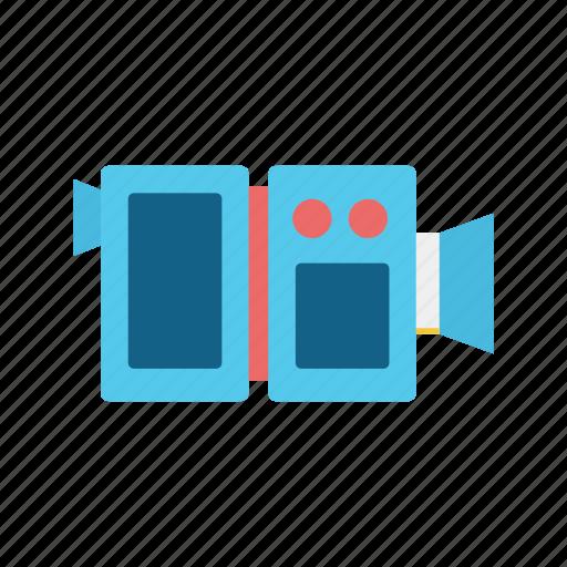camera, communication, consume, media, movie, video, video camera icon
