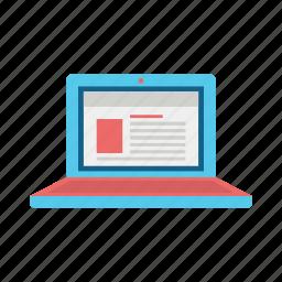 communication, computer, consume, laptop, media, net, netbook icon