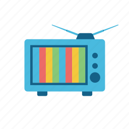 antique, communication, consume, media, old, television, tv, vintage icon