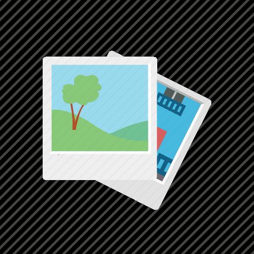 communication, consume, media, nature, photo, photograph, polaroid, tree icon