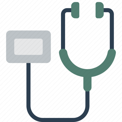 doctor, equipment, heart beat, hospital, medical, patient, stethoscope icon